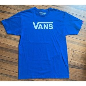 Vans Men's Blue Graphic T Shirt Size Large